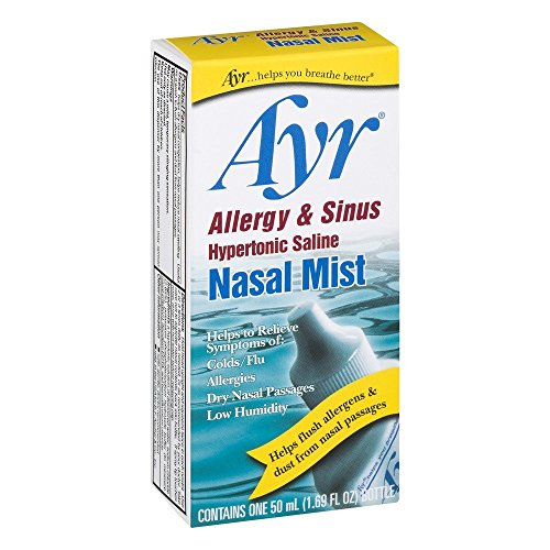 Ayr Nasal Mist Allergy and Sinus 50 mL (Pack of - Saline Nasal Hypertonic Mist