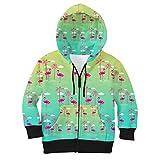 Flamingos in Sunglasses Kids Zip up Hoodie - 6 Unisex