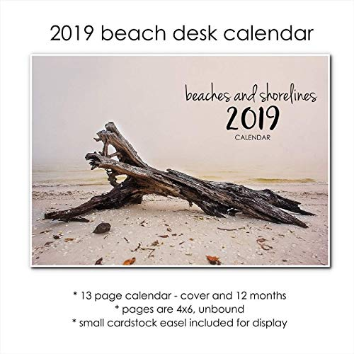 2019 Coastal Beach Desk Calendar With Stand Tropical Shoreline Photos