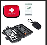 Upgraded 2018 Survival Kit,Paracord w/ Fishing Kit,First-aid kit, 3 kits in 1, 29 Items, Complete,Lightweight,Quality Tools for Outdoors, Disasters prepping, Traveling, for Families, Men & Women