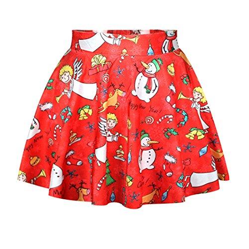 Skirt Fille Jupe Dshabill 7 Shorts de No Court Jupe Jupe de Femme Jupon YICHUN Impression l Soire Plage Mini TUqZn6xP1