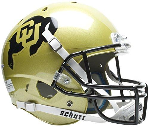 Case Buffalo Display Football (Schutt NCAA Colorado Buffaloes Replica XP Football Helmet, Classic)
