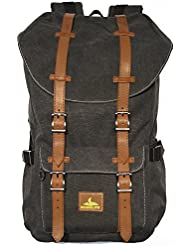 RUGGLIFE Vintage Backpack Laptop Bag Leather Military Rucksack Hiking Daypack Casual