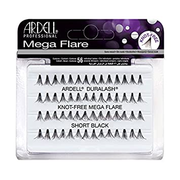 151add6ea37 Amazon.com : (3 Pack) ARDELL Duralash Knot Free Mega Flare Individual Black  Lashes Short : Beauty