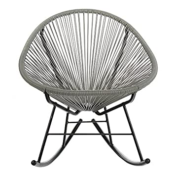 Acapulco Indoor Outdoor Outdoor Patio Rocking Chair Grey