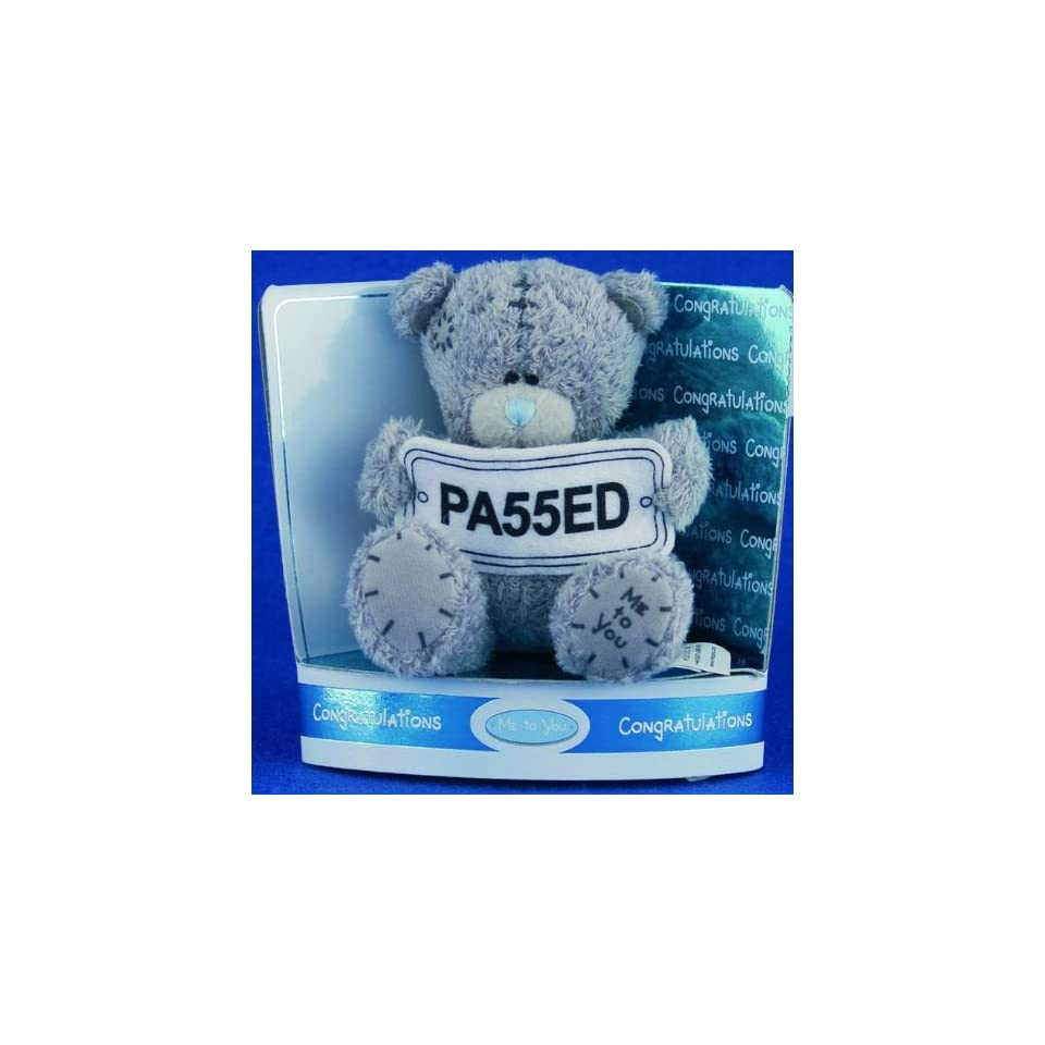 Me to You Tatty Teddy Bear 3 (7.62 Cm) Bear Holding Banner Passed