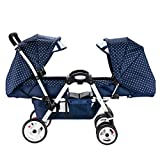 Stroller Twins Baby Stroller Can Sit Down and Fold Babys Face to Face Trolley Double Double Reclining Can Sit and Folding Safety (Color : B)