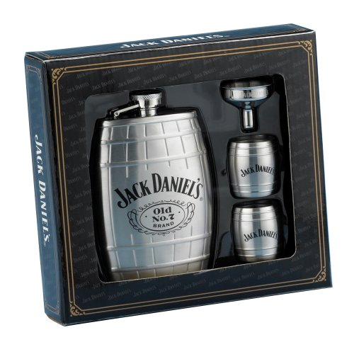 Jack Daniels Whiskey Barrels - Jack Daniels Barrel Flask/Gift Set