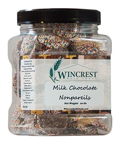 Chocolate Nonpareils - 1.25 Lb (20 Oz) Tub (Milk Chocolate Nonpareil)