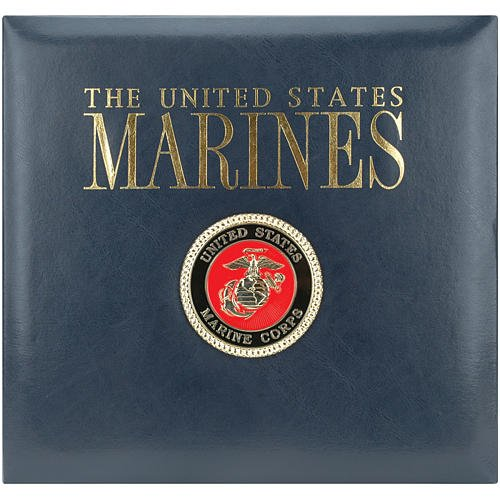 K&Company Leather Marine 12-by-12-Inch Scrapbook