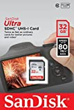 SanDisk 32GB Ultra Class 10 SDHC UHS-I Memory Card Up to 80MB, Grey/Bl...