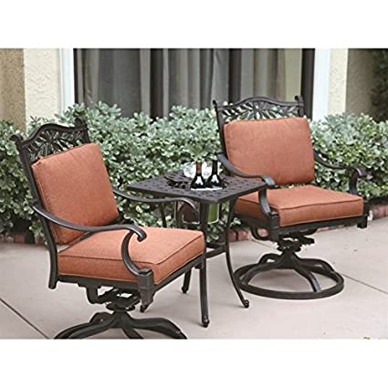 Wondrous Amazon Com Darlee Charleston 3 Piece Patio Bistro Set In Interior Design Ideas Inesswwsoteloinfo