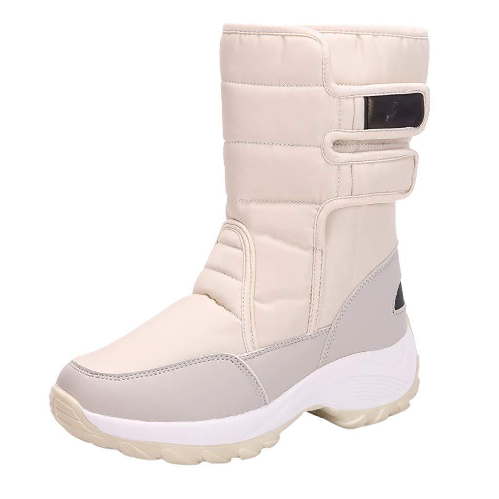 ⚡ HebeTop ⚡ Women's Winter Waterproof Fur Lined Frosty Snow Boots