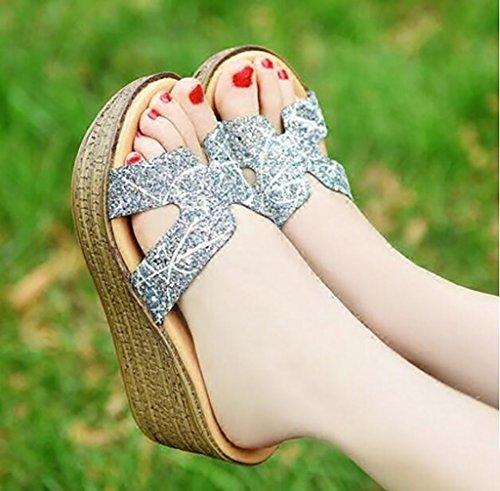 femmes plates d'été pour 40 femmes mode d'été slips pour Pantoufles taille cool sandales avec chaussons pantoufles HCTx48fHqw
