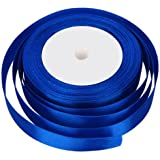 25 METRES X 10MM OF SATIN RIBBON FOR WEDDING FAVOUR / CRAFT / GIFT WRAP/ CHRISTMAS (ROYAL BLUE)
