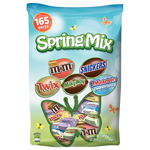 MARS Chocolate Easter Spring Variety Mix 52.35-Ounce 165-Piece Bag -