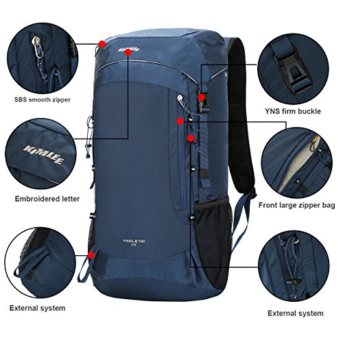 Hiking Blue KIMLEE Camping 40L Resistant Rucksack Lightweight Travel Water Backpack Trekking for Blue Mountaineer Outdoor Ultra Foldable Traveling Multi functional rr5wFxUq