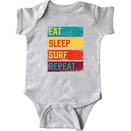 inktastic - Surfing Eat Sleep Surf Infant Creeper Newborn Heather Grey 3454c