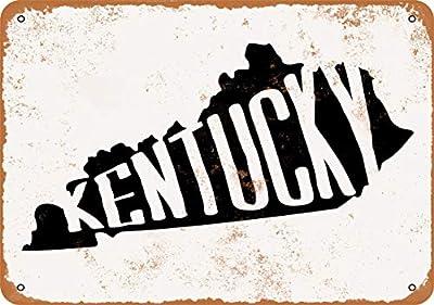 Wall-Color 9 x 12 Metal Sign - Kentucky Set 2 - Vintage Look