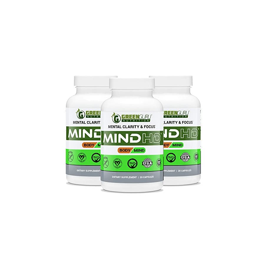 Brain Support Supplement – Featuring Ashwagandha, B 12 Vitamins, Rhodiola Rosea Extract, American & Panax Ginseng & Green Tea Extract – Natural Nootropics that Increases Memory, Focus & Clarity
