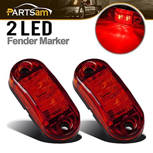 Partsam 2X Trailer Truck Surface Mount LED Oval 2.5