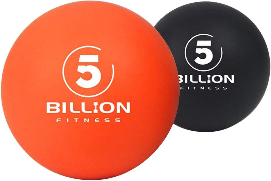 5BILLION Massage Balls - Bola de Lacross & Bola de estrés para la Terapia Física - Herramienta de Masaje de Alta Densidad para Tejidos Profundos, Liberación Miofascial, Accupoint Masaje