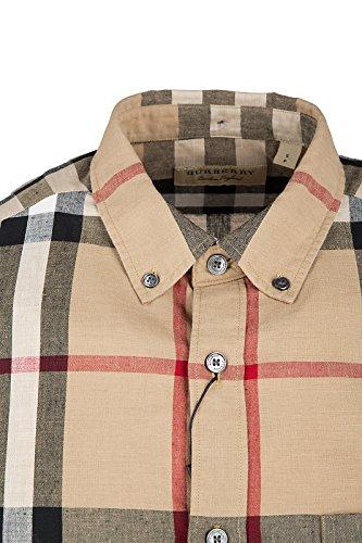 Burberry chemise à manches longues homme elfords beige EU XXL (UK 44) 4022072