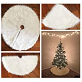 Tinksky Christmas Tree Plush Skirt Holiday Tree Ornaments Decoration for Merry Christmas Party Decoration 90cm