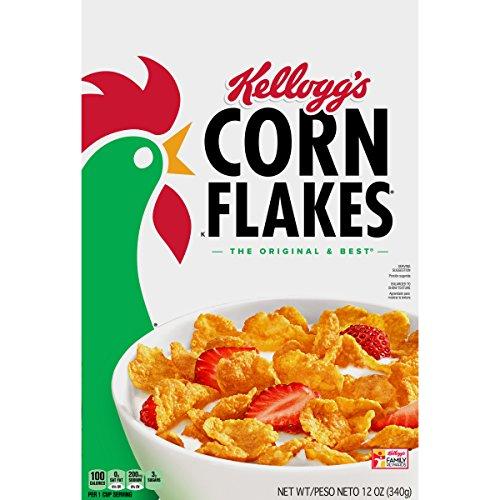 Kellogg's Corn Flakes, Breakfast Cereal, Original, Fat-Free, 12 oz ()