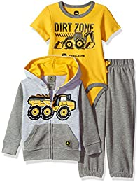 Baby Boys' 3 Piece Jacket Bodysuit Pant Set