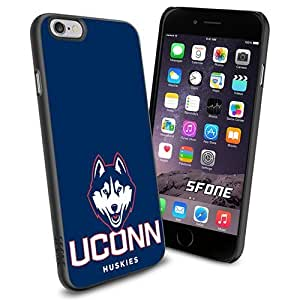 NCAA Uconn Huskies Basketball Apple Smartphone iPhone 6 4.7 inch Case Cover Collector TPU Soft Black Hard Cases by mcsharks