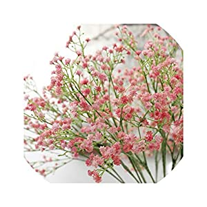 80 Mini Heads 1PC DIY Artificial Baby's Breath Flower Gypsophila Fake Silicone Plant for Wedding Home Party Decorations 8 Colors 102