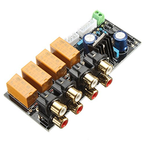 Quickbuying Excellent Unit For Audio Input Signal Selector Relay Board/ Signal Switching Amplifier Board DIY New Arrival