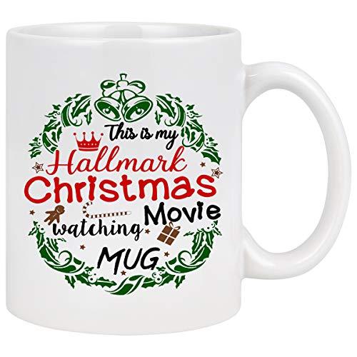 Christmas Coffee Mug Hallmark Movie Coffee Mug This Is My Hallmark Christmas Movie Watching Mug Coffee Mug with Hallmark Movie Christmas Gifts for Friends Coffee Mugs for Christmas Daily Use 11Oz