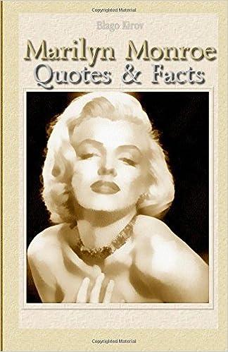 Marilyn Monroe Quotes Facts Blago Kirov 9781507675304 Amazon