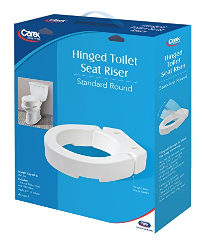 Carex Hinged Toilet Seat Riser Adds 3 5 Inches Of Height