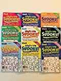 Lot of 9 CRAZY FOR SUDOKU FAVORITES COLLECTION from the Dell Penny Press Puzzles Volume numbers 73, 74, 75, 76,77, 78, 80, 81, and 82