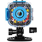 Waterproof Camera for Kids,IMoway HD 1080P Kids Video Camera with 8GB Memory Card (Blue)