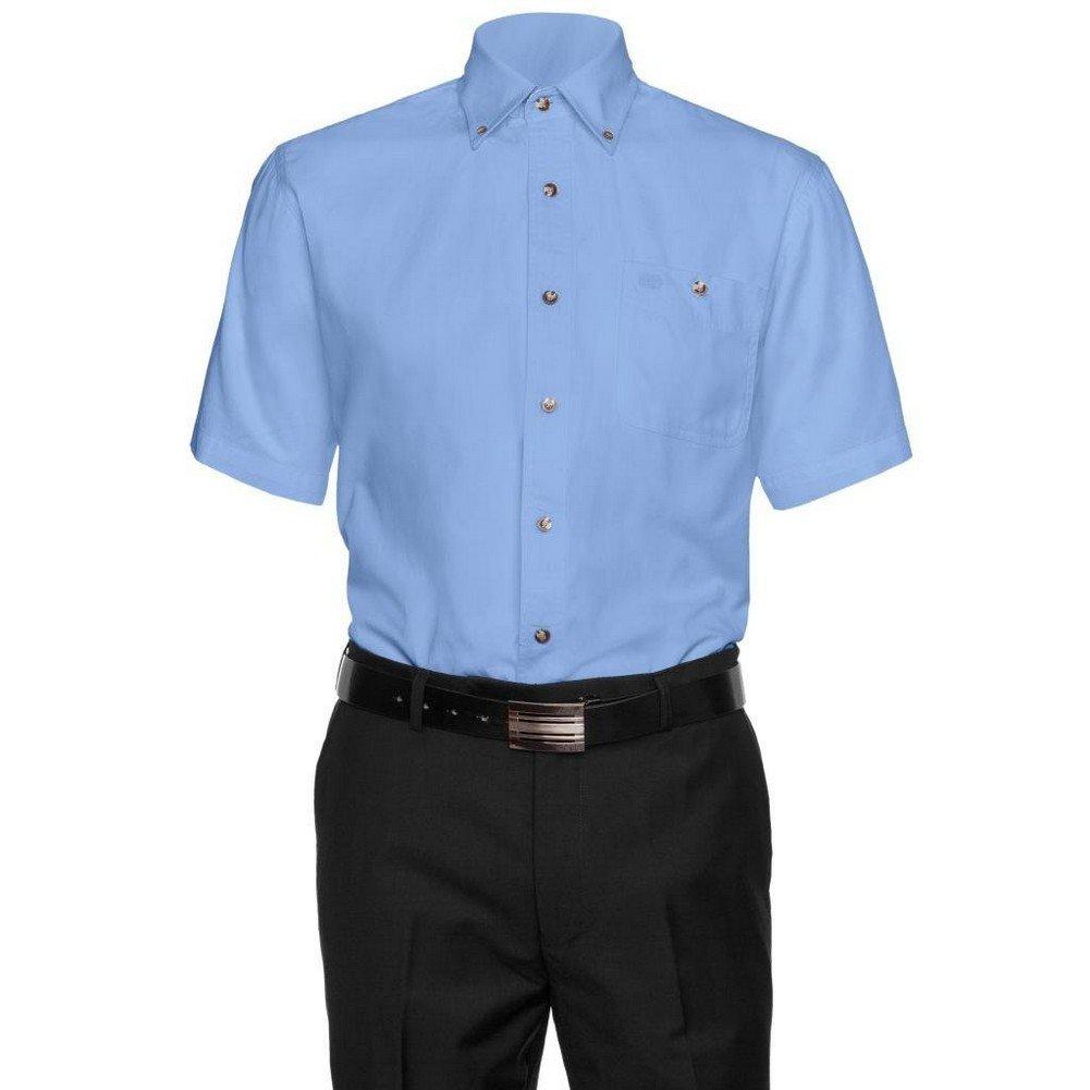 Aka Mens 1701 Cotton Button Down Short Sleeve Dress Shirt Medium