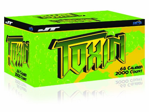 JT Toxin Paintballs - Green Shell, Yellow Fill - 2,000 Count