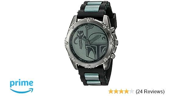 Star Wars Mens BOB1235 Analog Display Analog Quartz Black Watch