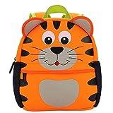 LITTHING Backpack Kids Cute Satchel School Kindergarten Mini Raincoat for Child Primary Small Daycare Preschool Boys or Girls Hop Zoo L (3-7 Years) (Orange)