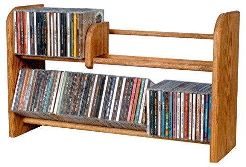 The Wood Shed 201-L C Solid Oak CD Rack, Clear