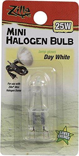 Zilla Reptile Terrarium Heat Lamps Mini Halogen Bulb, Day White, (Reptile Halogen Bulb)