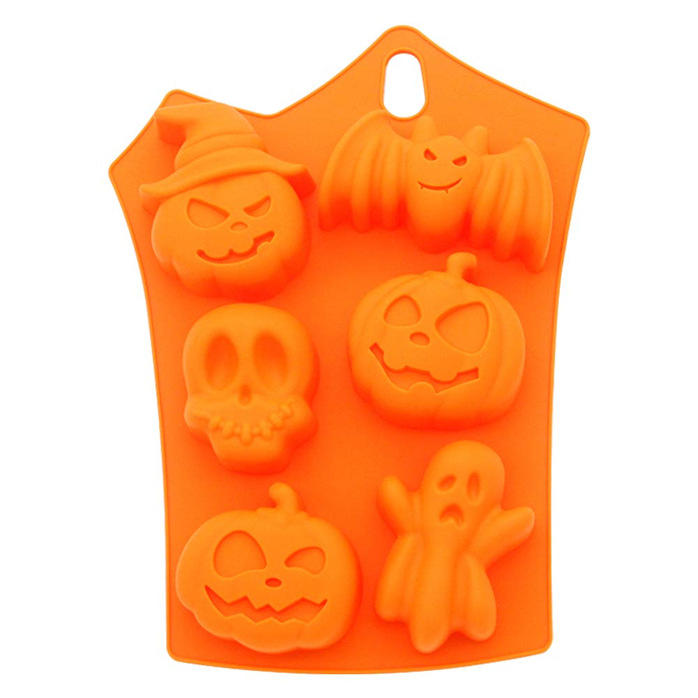 Silicone Cupcake Liner, Halloween Limited Edition Reusable Muffin Pan Pastry Baking Mold Chocolates Candy/Jello/ Ice Mold