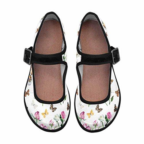 InterestPrint Womens Comfort Mary Jane Flats Casual Walking Shoes Multi 5 TxsibQ