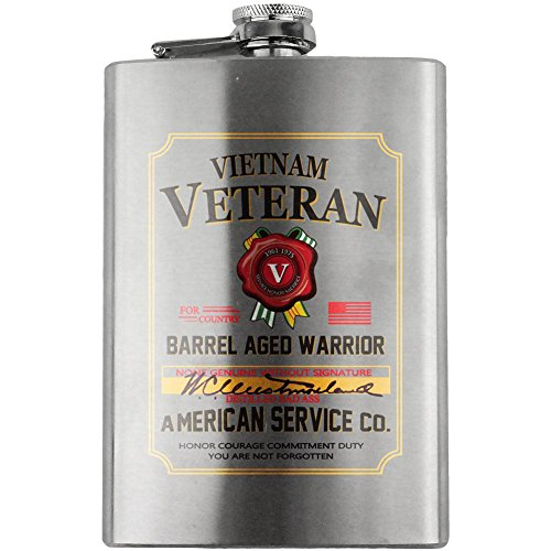 Vietnam Veteran Whiskey Label 8oz. Flask