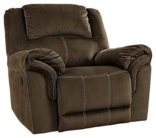 Natural Reclining Sofa (Signature Design by Ashley 9570125 Quinn Lyn Recliner, Coffee)