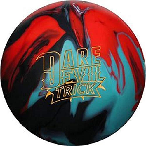 Roto-Grip Dare Devil Trick Bowling Ball, Black/Teal/Red, 15 lb