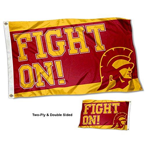 USC Trojans Fight On Double Sided (Usc Trojans Tailgate Flag)